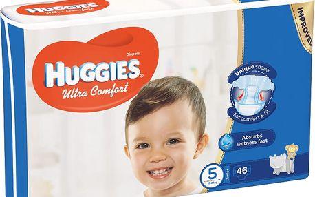 HUGGIES® Ultra Comfort 5 (12-22 kg) 46 ks – jednorázové pleny