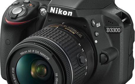 Nikon D3300 + 18-55 AF-P DX - VBA390K010 + Samonafukovací karimatka Vango Trekker Long v ceně 1390 Kč
