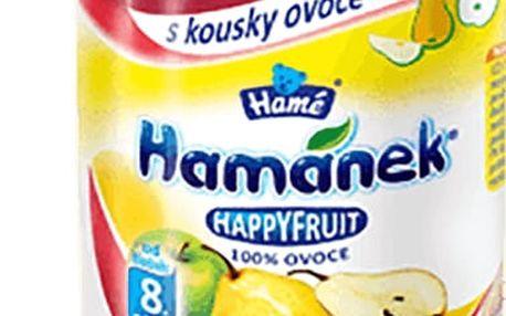 6x HAMÁNEK HappyFruit 100% s kousky hrušek (190 g) - ovocný příkrm