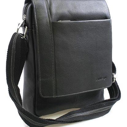 Černá luxusní kožená taška IG701 černá