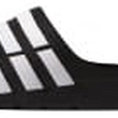 Pánské nazouváky adidas Performance Duramo Slide 44,5 BLACK1/WHT/BLACK1