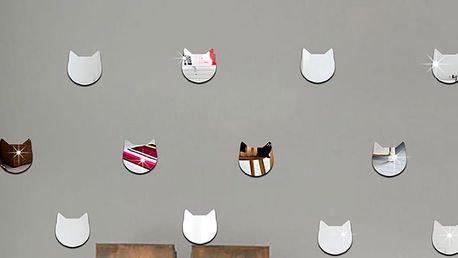 Nalepte.cz Zrcadlové kočičí hlavy 24 ks 5 x 5 cm