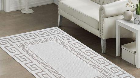 Béžový odolný koberec Vitaus Versace, 60x90cm
