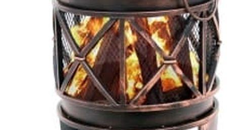 Přenosné zahradní ohniště 42 x 42 x 52,5 cm