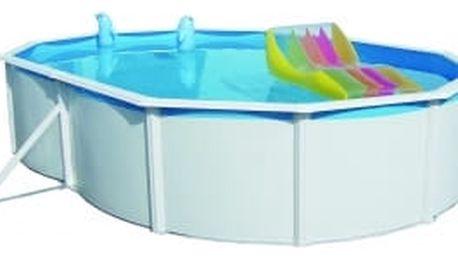 Oválný bazén Steinbach Nuovo de Luxe 5,5 x 3,66 x 1,2 m s kovovou konstrukcí