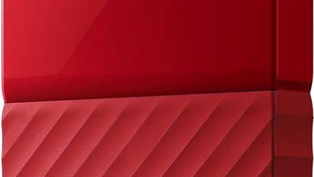 WD My Passport - 4TB, červená - WDBYFT0040BRD-WESN + SanDisk Cruzer Blade - 16GB