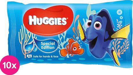 10x HUGGIES® N'Care Disney 56ks Dory – vlhčené ubrousky