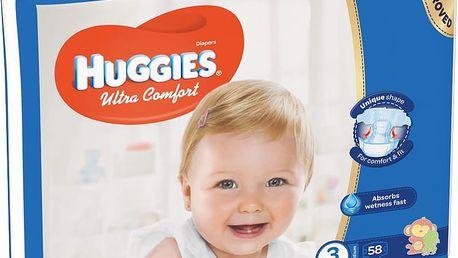 HUGGIES® Ultra Comfort 3 (5-8 kg) 58 ks – jednorázové pleny
