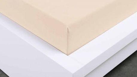XPOSE ® Jersey prostěradlo Exclusive dvoulůžko - bílá káva 160x200 cm