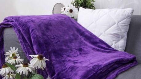 XPOSE ® Deka mikroflanel fialová 200x230 cm
