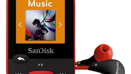 SanDisk Sansa Clip Sports 4GB, červená - SDMX24-004G-G46R