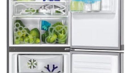 Kombinace chladničky s mrazničkou Zanussi ZRB36104XA nerez