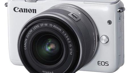 Canon EOS M10 + EF-M 15-45 STM, bílá - 0922C012