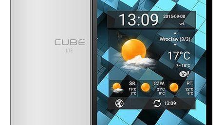 myPhone CUBE LTE, bílá - TELMYACUBELTEWH + Zdarma golfová čepice Nike v ceně 490,-, modrá