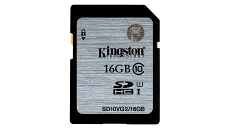 Kingston SDHC 16GB Class 10 UHS-I - SD10VG2/16GB