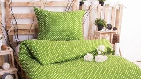 XPOSE ® Bavlněné povlečení MARKÉTA - zelená 140x200, 70x90