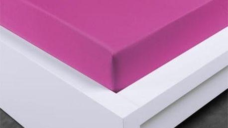 XPOSE ® Jersey prostěradlo Exclusive jednolůžko - nachová 90x200 cm