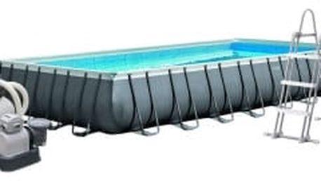 INTEX Frame Pool Set Ultra Quadra 975 x 488 x 132 cm kompletset s pískovou filtrací