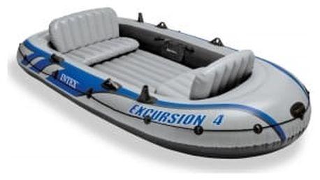 SET - Nafukovací člun Intex Excursion 4 set s držákem a elektromotorem Maxima 40