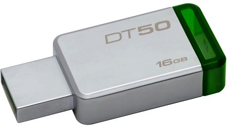 Kingston DataTraveler 50 - 16GB, zelená - DT50/16GB