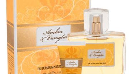 Sireta Collection Ambra & Vaniglia dárková kazeta pro ženy parfémovaná voda 100 ml + sprchový gel 20 ml