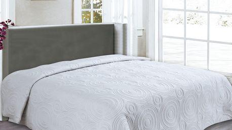 Přehoz na postel REFLECTION 160x200 cm světle šedá ESSEX