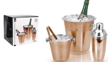 Kvalitní barový set z nerezové oceli pro milovníky míchaných nápojů a chlazeného sektu
