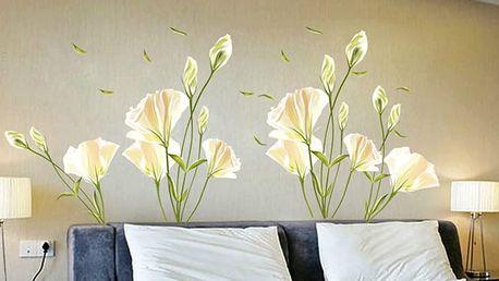Bílé květiny 140 x 120 cm