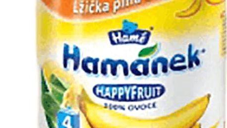6x HAMÁNEK HappyFruit 100% S banánem, (190 g) - ovocný příkrm