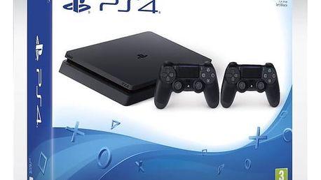Herní konzole Sony PlayStation 4 SLIM 1TB + DualShock4 (PS719893653 ) černá + Hra Sony PlayStation 4 Horizon Zero Dawn v hodnotě 1 399 Kč + Doprava zdarma