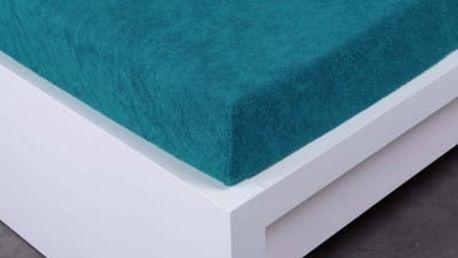 XPOSE ® Froté prostěradlo Exclusive dvoulůžko - temně modrá 180x200 cm