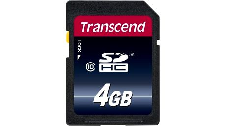 Transcend SDHC 4GB Class 10 - TS4GSDHC10