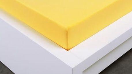 XPOSE ® Jersey prostěradlo Exclusive jednolůžko - žlutá 90x200 cm