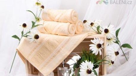 XPOSE ® Bambusový ručník MAYA - vanilková 50x90 cm