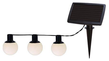 Solární světelný LED řetěz Balls Combo, 6 světýlek