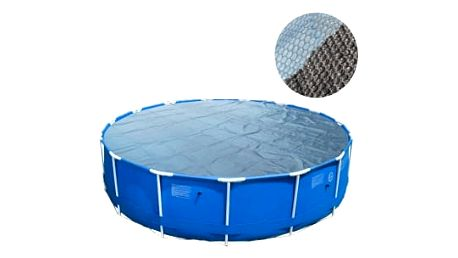 Solární plachta 305 cm kruhová modro-černá