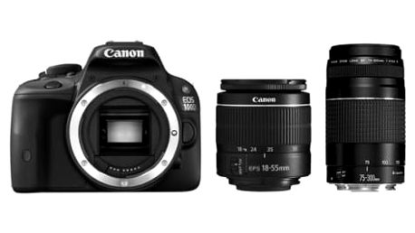 Digitální fotoaparát Canon 100D + EF-S 18-55 DC + 75-300 DC (8576B099) černý