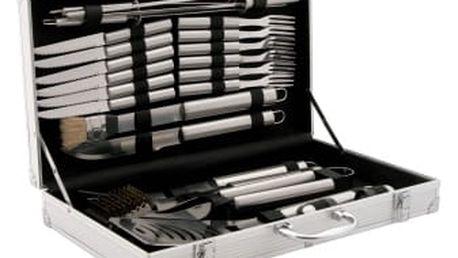 Maxi 24 dílní sada nerezového grilovacího nářadí v kufříku