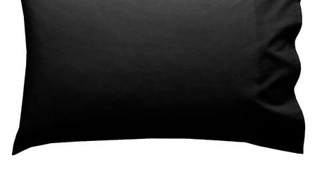 Sada 2 černých povlaků na polštář HF Living Basic, 50x80cm