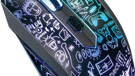 CONNECT IT Doodle myš, černá - CI-1143
