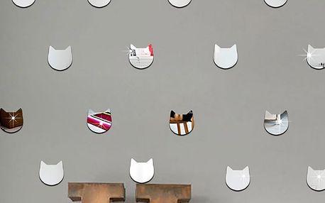 Zrcadlové kočičí hlavy 24 ks 5 x 5 cm