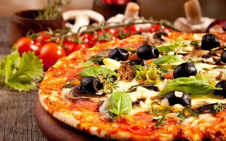 Dvě křupavé pizzy a dva nápoje Pizza Fresco