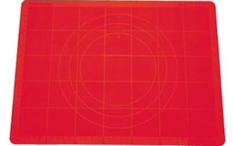 Vál na těsto silikonový DELÍCIA 38x28 cm, červená