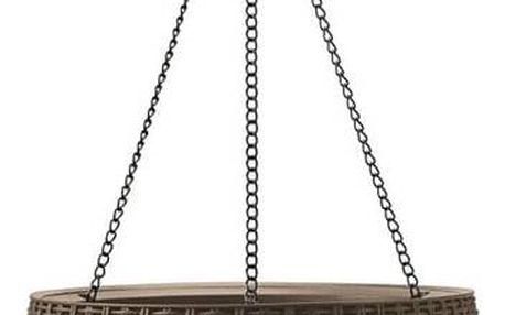 Květináč ratanový Keter Hanging sphere hnědý