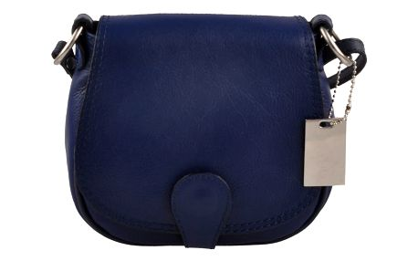 Modrá kožená kabelka Matilde Costa Gisstel - doprava zdarma!