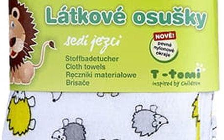 T-TOMI Látkové osušky 2 ks, šedí ježci