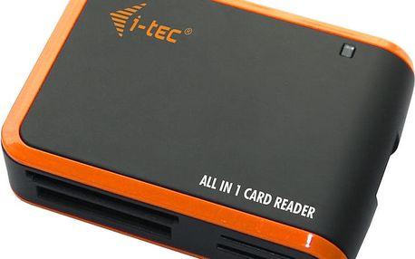 i-Tec, čtečka All-in-One USB2.0, Black/Orange - USBALL3-B