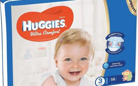 Huggies Plenky Ultra Comfort Jumbo vel. 3, 5-8kg, 58ks