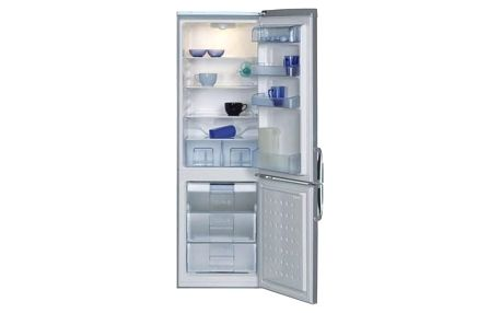 Kombinace chladničky s mrazničkou Beko CSA 29022 X nerez + Doprava zdarma