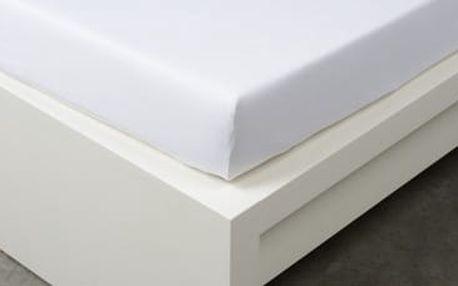 XPOSE ® Jersey prostěradlo Exclusive jednolůžko - bílá 90x200 cm